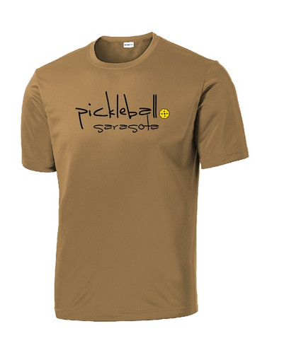 Men's Competitor, Moisture Wicking Tee - Pickleball Sarasota Text, Brown, Extra Large
