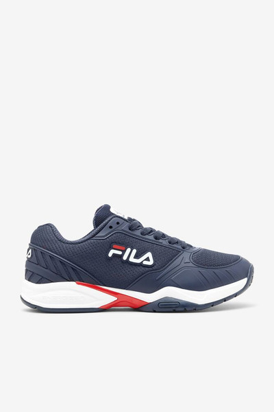 FILA Volley Zone Pickleball Court Shoes - Men's - Blue/Red/White