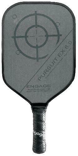 Engage Pursuit EX 6.0 Midweight Pickleball Paddle - Red Accents
