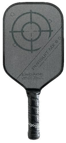 Engage Pursuit MX 6.0 Midweight Pickleball Paddle - Red Accents