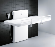 Pressalit Care R8478 Nursing Bench 2000 inc. Safety Rail, Mesh Cover - 1800mm