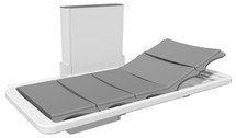 Ropox 40-25079 changing and shower bed with back support - 210cm