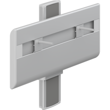 Pressalit PLUS R4550 wash basin bracket, manually height adjustable with lever control, anthracite cover plate