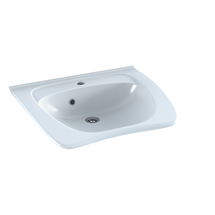 Pressalit MATRIX CURVE II R2052 ergonomic wash basin. 600 x 487 mm. Incl. drain fitting, with overflow and tap hole