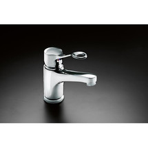 Pressalit Mixer tap RT622 with long rotatable spout and ring-shaped operating lever