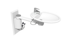 Ropox 40-41130 Swing Washbasin with short cover - height adjustable