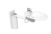 Ropox 40-41140 Swing Washbasin with long cover - height adjustable