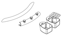 Ropox 40-41150 Accessory kit for Swing Washbasin inc. wall rail (must be ordered with basin)