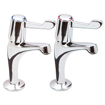 High neck pillar taps with levers - T-2