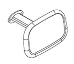Ropox Back Rest 40-45100 - Long - for toilet lifter or wall (must be ordered with toilet lifter)