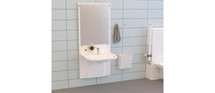 Ropox 40-15601 SlimLine washbasin lift complete with Support basin, includes mirror