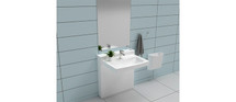 Ropox 40-14771 StandardLine washbasin lift complete with Standard basin