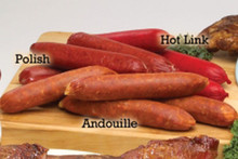 Hickory Smoked Hot Sausage Links