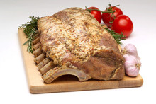 Garlic Herb Sundried Tomato French Cut Bone-In Pork Loin