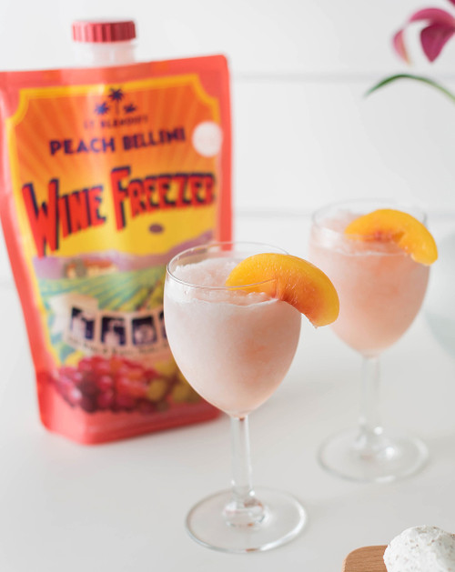Peach Bellini Wine Freezer Lieutenant Blenders Cocktails In A Bag