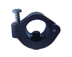 "Nylon Clamp for 1/2"" PVC Pipe with Nozzle Thread"