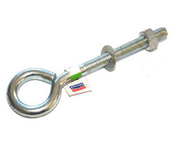 "3/8 x 4"" Eye Bolt with Nut & Washer ZP"