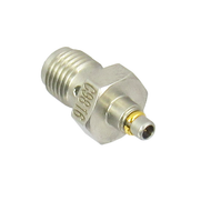 C9816 SMA Female to MMCX Plug Adapter. 6Ghz. VSWR 1.3. Stainless Steel Body. Centric RF