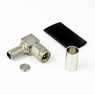 CX2412 SMA/Male Right Angle Connector for LMR240 Centric RF