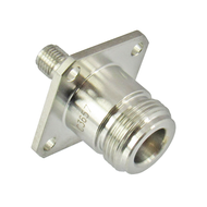 C3657 N/Female to SMA/Female Flange Adapter Centric RF