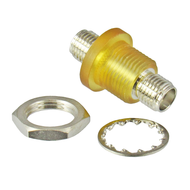 C3150B SMA/Female to SMA/Female Bulkhead Adapter with Isolated Ground Centric RF