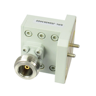 CWRD750N Double Ridge Waveguide to Coax Adapter.  WR750 to Type N 7.5-18Ghz VSWR 1.3 max. Centric RF
