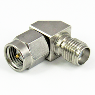 C3439 SMA Mitered Right Angle Adapter Male to Female Centric RF