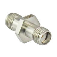 C3363 SMA Female to Female Adapter. 27ghz. VSWR. 1.15. 5/16 Hex.  Stainless Steel Centric RF