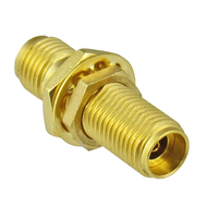 C7077 2.92mm Bulkhead  Female to Female Adapter 40Ghz. Au Plating Centric RF