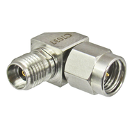 C7037 2.92mm Right Angle Male to Female Adapter 40Ghz Centric RF