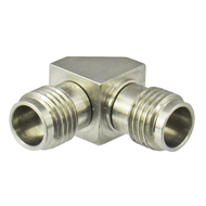 C7515 2.4/Female to 2.4/Female Right Angle 90 Degree Adapter Centric RF