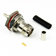 CX3175 TNC Female Bulkhead Connector RG316 RG174 LMR100 Brass Crimp Solder Centric RF