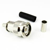 CX0584 TNC Male Connector RG58 Crimp Solder Centric RF