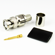 CX4007 BNC Male Connector LMR400 Brass Centric RF