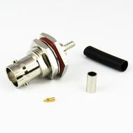 CX3177 BNC Female Bulkhead Connector RG316 RG174 LMR100 Brass Centric RF