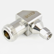 C3530 SMA Male to N Female R Angle Adapter 18 Ghz VSWR 1.2 S Steel Centric RF