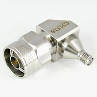 C3557B SMA Female to N Male R Angle Adapter 18 Ghz VSWR 1.2 S Steel Centric RF