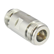 C5502 N Adapter 3 Ghz Female to Female VSWR 1.2 75ohm Brass Body Centric RF