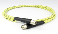 "C588-254-24 SMA Test Cable Assembly 8Ghz VSWR 1.15 12"" Low Loss Phase Stable Flexible Aramid Jacket Centric RF"