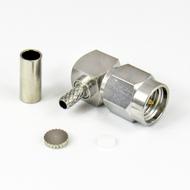 CX3166 SMA Male Right Angle Crimp Connector Centric RF