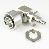 C8584 4.3/10 Male to SMA Female Right Angle Bulkhead Low PIM Adapter Centric RF