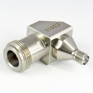 C3511 SMA Female to N Female R Angle Adapter Centric RF