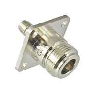 C3651 N/Female to SMA/Female Flange Adapter Centric RF