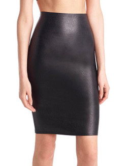 Commando Faux Leather Perfect Pencil Skirt In Black