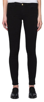 FRAME Women's Le Color Skinny Jeans in Film Noir