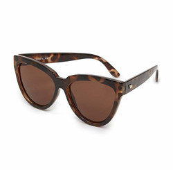Le Specs Liar Liar Cateye Sunglasses In Volcanic Tort