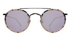 Illesteva  Allen Ace Sunglasses In White Tortoise