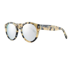 Illesteva  Leonard Mirrored Sunglasses In Cream Tortoise/Silver