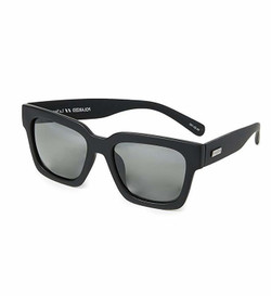 Le Specs Weekend Riot Sunglasses In Black Rubber
