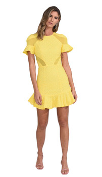 Karina Grimaldi Lila Eyelet Mini Dress
